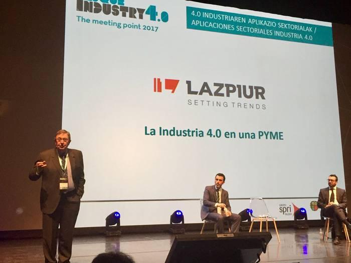 Lazpiurrek enpresako berrikuntzak aurkeztu ditu Basque Industry 4.0 jardunaldian