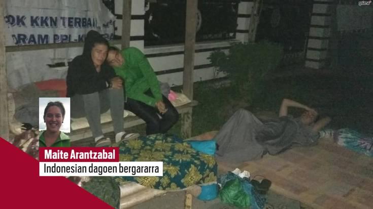 Indonesiako lurrikararekin bizi izandakoa