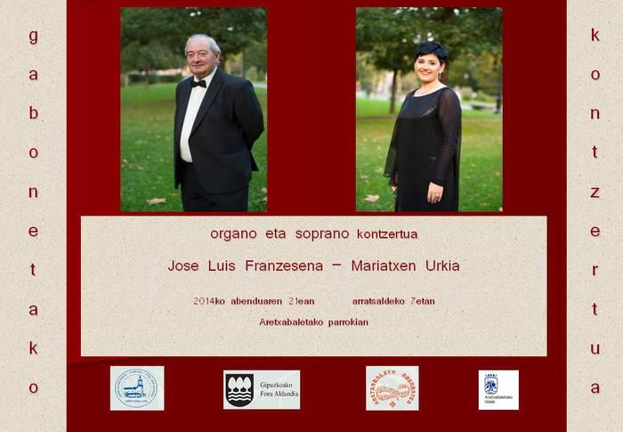Organo- eta soprano-kontzertua domekan, Aretxabaletako parrokian