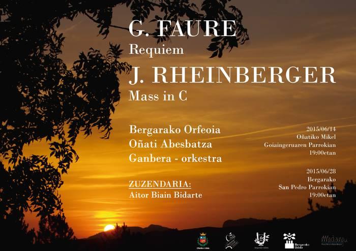 Bergarako Orfeoia+Oñati Abesbatza+Orkestra Bergarako San Pedro Elizan