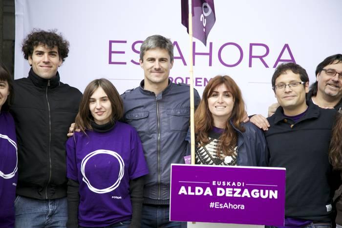 """""""Herritarren erreskatea"""" agindu du Podemos-Ahal Duguk, """"ez banketxeena"""""""