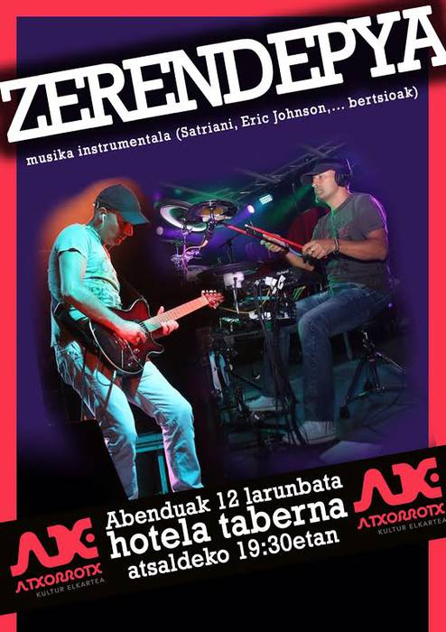 Zerendepya taldeak musika instrumentala eskainiko du Hotela tabernan