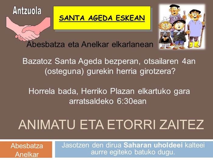 Santa Agedako konbidapena