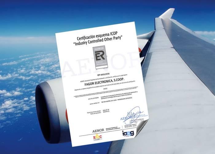 Aeronautikako bi kalitate-ziurtagiri lortu ditu Fagor Electronicak