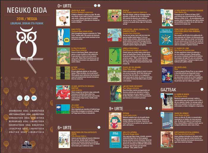 Diskoen eta liburuen gomendioekin osatutako Neguko Gida gertu