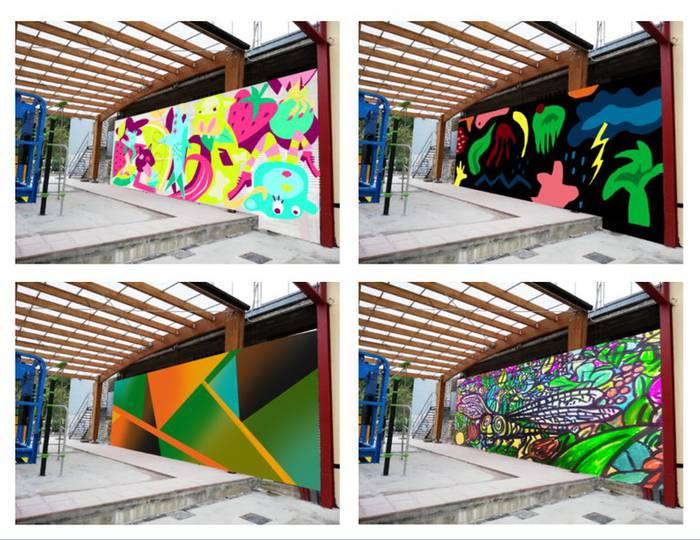 Makatzenako jolas parkean egingo den murala, herritarren esku