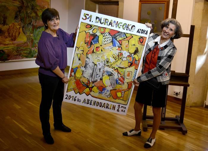 Christine Etchevers margolariak egin du Durangoko Azokako kartela