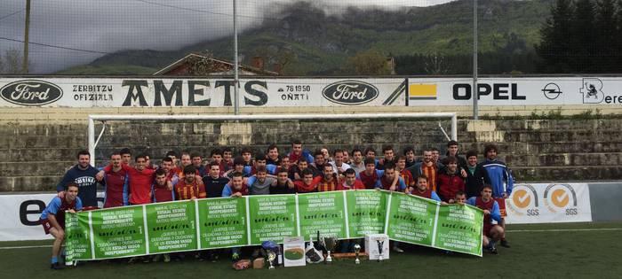 Zalapartak penaltietan irabazi du Beteranoen Txapelketako liga