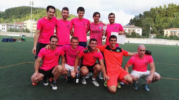 Beti Kozkor taldeak irabazi du kuadrillen arteko futbol txapelketa