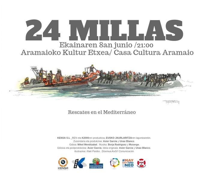 '24 millas' film dokumentala