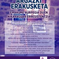 """Argazki erakusketa: """"Emakume aurpegia duen nikaraguar erresistentzia"""""""