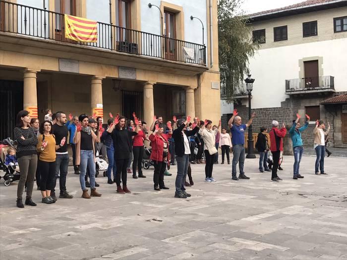 Kataluniaren aldeko mobilizazioak Elgetan ere