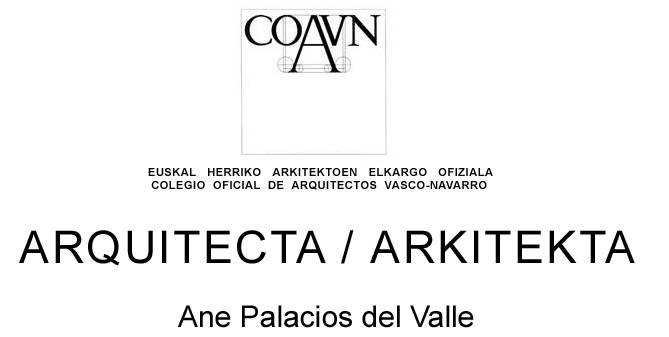 Ane Palacios arkitekta logotipoa