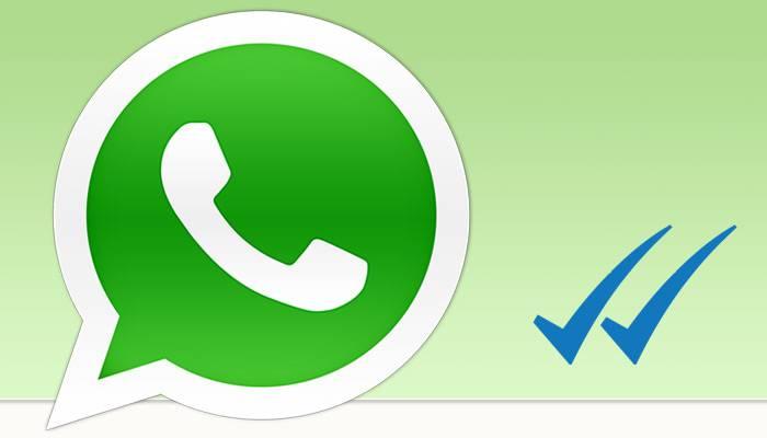 Mezua irakurri dela erakusten du WhatsApp-ek ikur bikoitz urdinarekin