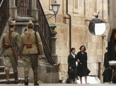 'Mientras dure la guerra' filma