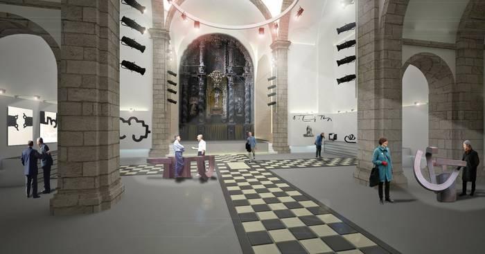 Seminarioko eliza kultura-areto bihurtzeko aurreproiektua prest du Bergarako Udalak