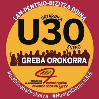 U30. Kalejira, elkarretaratzea eta manifestazioa
