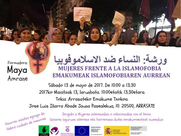 'Emakumeak islamofobiaren aurrean' trebakuntza saioa dago hilaren 13an