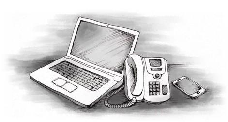 Telefono linea jausi da Elgetan