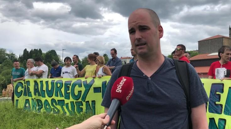 Cie Alurecyko langileak, protestan
