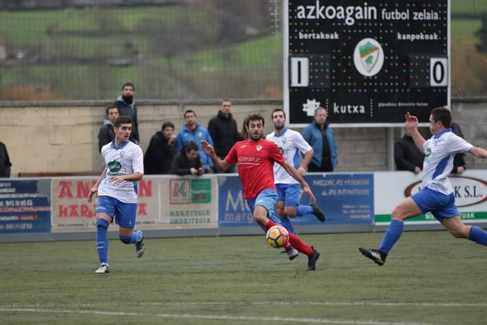 Liderra menderatu du Aloñak, Azkoagainen: 1-0