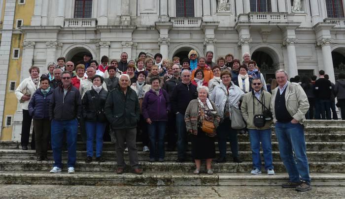 Portugaldik bueltan hitzaldi bat eta irteera bat dituzte Basotxoko erretiratuek