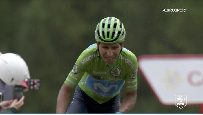 Podgacar-ek 'hemen nago' esan dio munduari, eta Quintana lider jarri da; Roglicek aurrerapausoa eman du, Vuelta irabazteko