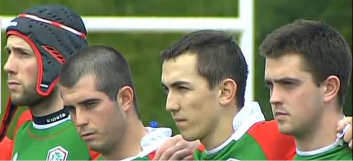 Arrasate Rugby Taldeko lau jokalari euskal selekzioarekin