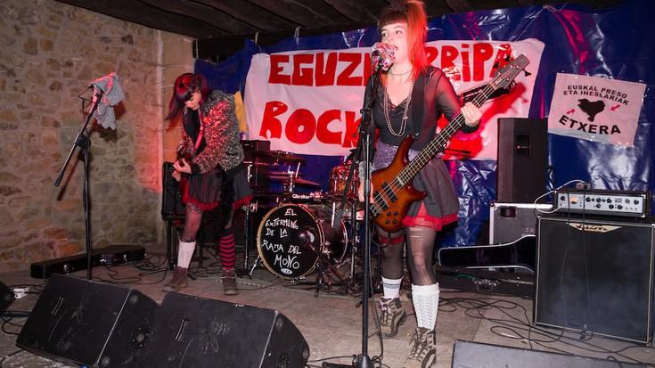 Hardcore eta punk doinuak Eguzkierripa Rock-en