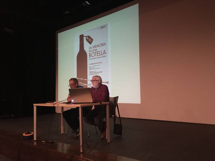 Iruñeako Ezkaba mendiko San Cristobal presondegiko historia kontatu dute Oñatin