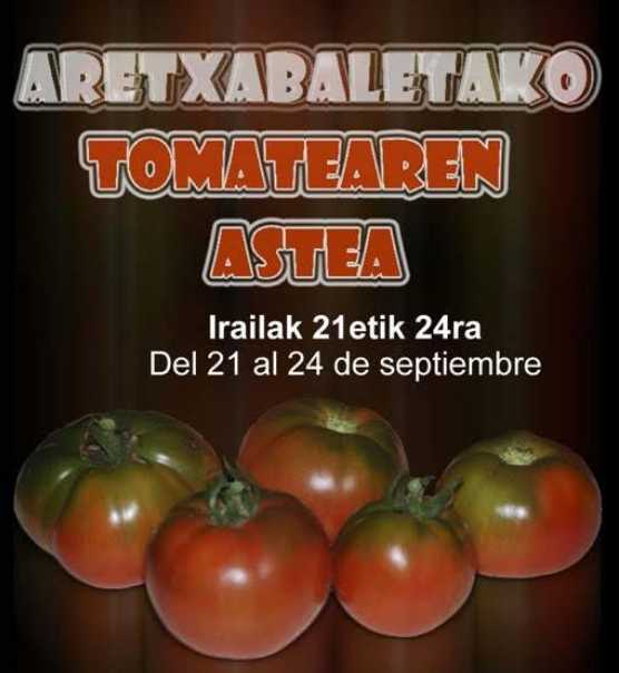 Aretxabaletako tomatearen astea egingo dute hilaren 21etik 24ra