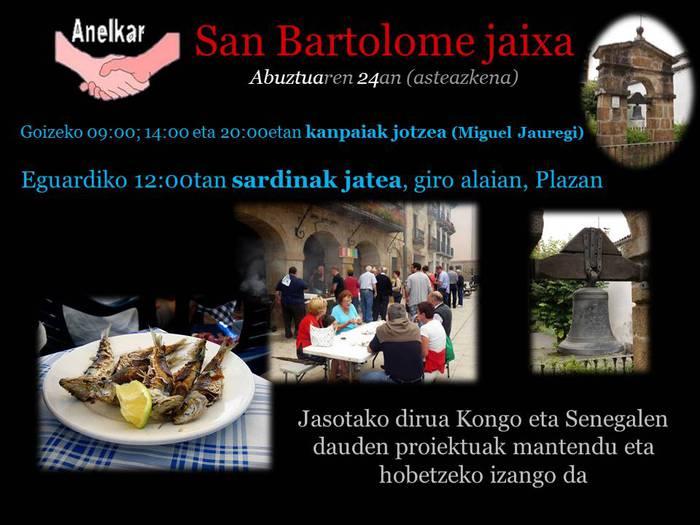 San Bartolome eguneko ospakizuna