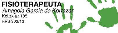 Amagoia Garcia de Cortazar fisioterapia