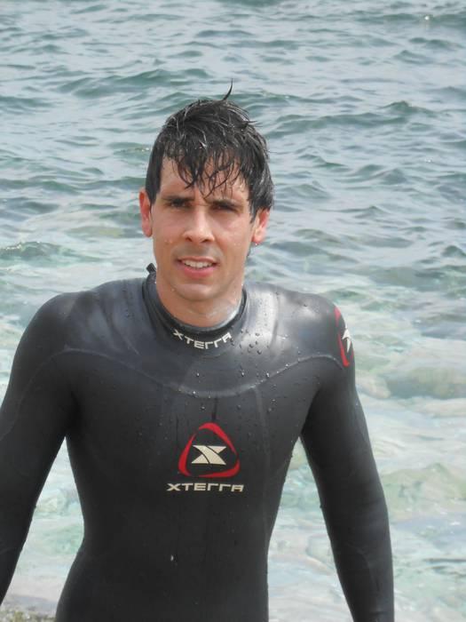 Iñaki Guridi oñatiarra garaile Oceanman-en
