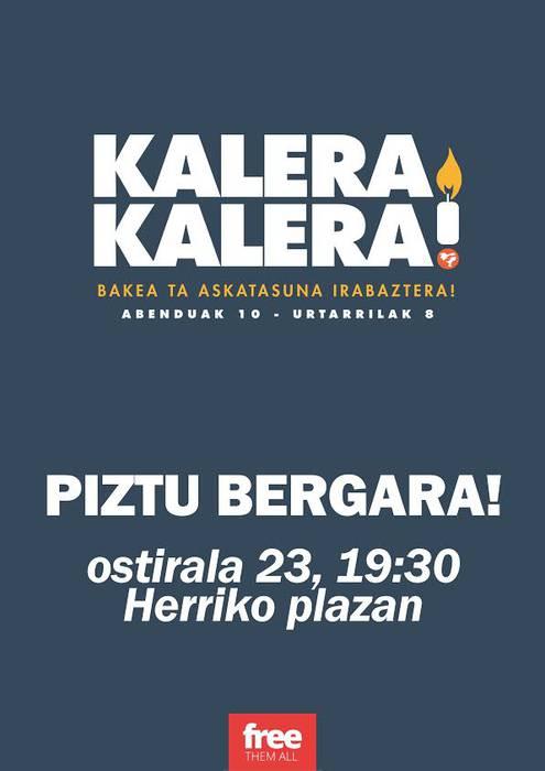 Kalera Kalera! dinamikaren eskutik, 'Piztu Bergara' egubakoitzean