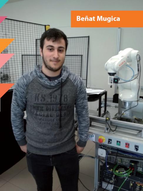 Beñat Mugica-ren testigantza, MGEP Automatizazio eta Robotika Industrialeko goi mailako heziketa zikloko ikaslea