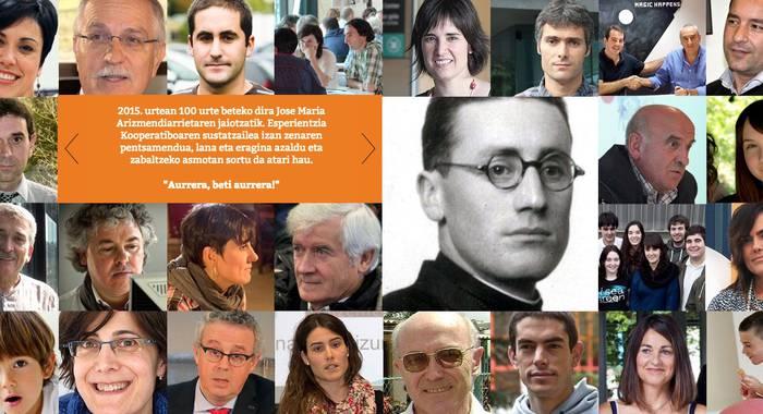 'Arizmendiarrieta100.com' webgunea sarean da, urtemuga ospakizunen harira