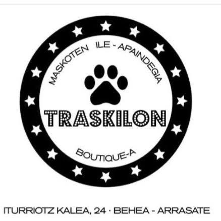 Traskilon txakurrendako ile apaindegia / boutiquea logotipoa