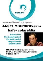 Anjel Oiarbiderekin kafe-solasaldia
