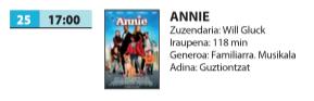 Zinema: 'Annie'