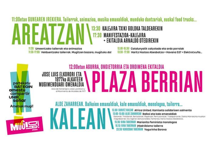 Martxoak 30: Dena partekatzeko eguna da!   Euskal Herria mugimenduan jartzeko eguna!! Esna gaitezen elkarrekin amesteko! Mugitzen bazara, Mugitzen da!