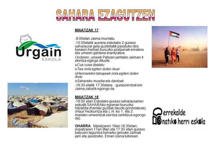SAHARA EZAGUTZEN