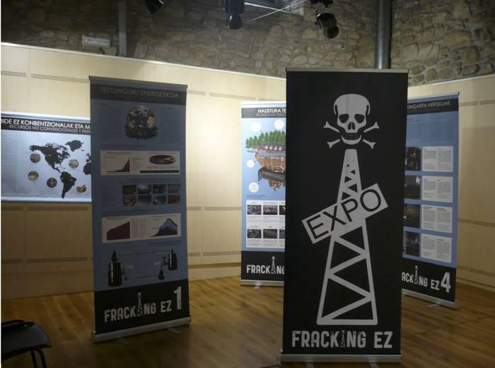 Fracking-aren aurkako erakusketa kultura etxean eta Sastiñan