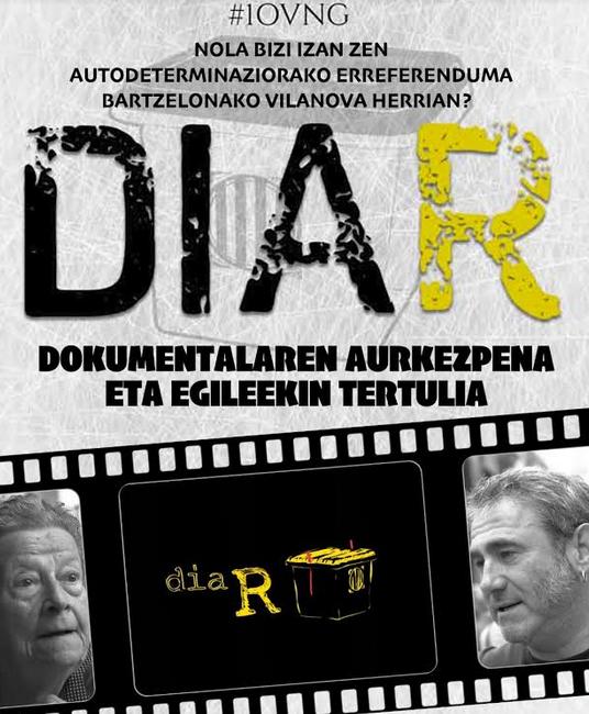 'Diar' dokumentala. Aurkezpena eta tertulia