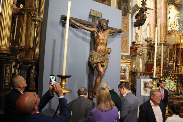 Bergarako Santo Kristo Hilzorikoa ikusgai dago Sevillan  - 1