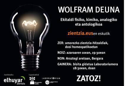 Zientzia eta umorea eskutik Bergaran, Wolfram Deuna ekitaldian