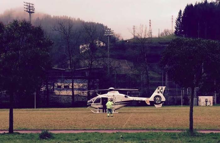 Osakidetzaren helikopteroa Musakolan
