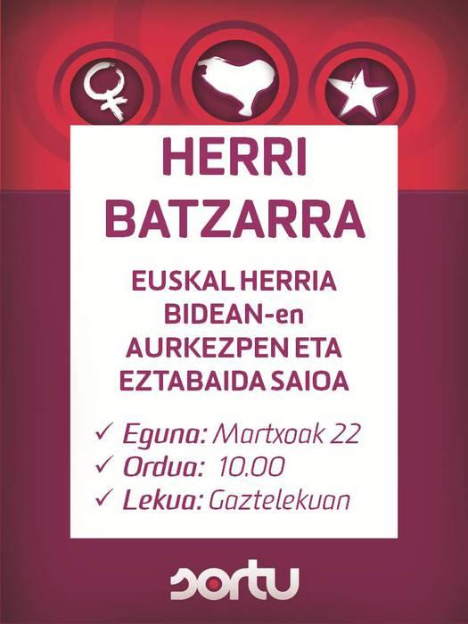 Herri Batzarra martxoaren 22an, 10:00etan