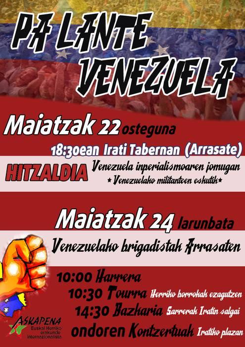 Venezuelako inperialismoaren jomugan