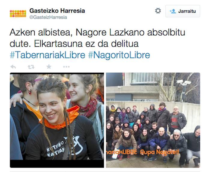 Nagore Lazkano oñatiarra absolbitu egin du Espainiako Auzitegiak